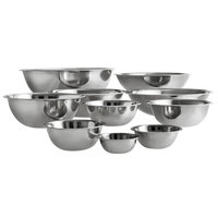 Choice Standard Weight Stainless Steel Mixing Bowls   - 10/Set
