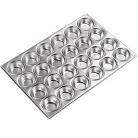 Carlisle 602424 24 Cup 3 oz. Glazed Aluminized Steel Muffin Pan - 14 inch x 20 1/2 inch