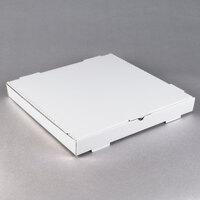18 inch x 18 inch x 2 inch White Customizable Corrugated Plain Pizza / Bakery Box - 50/Bundle