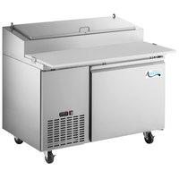Avantco SSPPT-1 44 inch 1 Door Refrigerated Pizza Prep Table