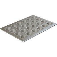 Carlisle 601829 Glazed Aluminized Steel 24 Cup 1.75 oz. Mini-Muffin / Cupcake Pan - 13 inch x 18 inch