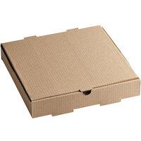 12 inch x 12 inch x 2 inch Kraft Customizable Corrugated Plain Pizza / Bakery Box - 50/Bundle