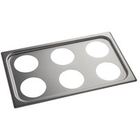 Vollrath 19195 Stainless Steel Adapter Plate for (6) 1.25 Qt. Insets