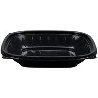 Dart B24SB PresentaBowls Pro 24 oz. Black Square Plastic Bowl - 252/Case