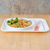 Thunder Group 0901BB Blue Bamboo 13 1/8 inch x 10 1/4 inch Melamine Small Tray - 12/Pack