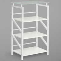 Safco 1007WW SOHO 4-Shelf White Textured Laminate Bookcase with Glass Top - 23 1/2 inch x 15 3/4 inch x 38 inch