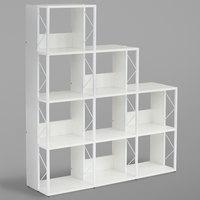 Safco 1003WW SOHO Multi-Height 9-Shelf White Textured Laminate Bookcase - 50 inch x 14 inch x 57 3/4 inch