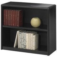 Safco 7170BL ValueMate 2-Shelf Black Steel and Fiberboard Bookcase - 31 3/4 inch x 13 1/2 inch x 28 inch