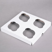 Southern Champion 10007 Cupcake Insert - Standard - Holds 4 Cupcakes - 200/Case
