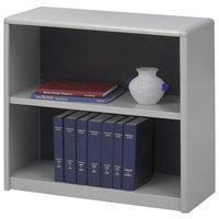 Safco 7170GR ValueMate 2-Shelf Gray Steel and Fiberboard Bookcase - 31 3/4 inch x 13 1/2 inch x 28 inch