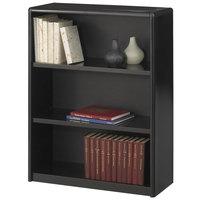 Safco 7171BL ValueMate 3-Shelf Black Steel and Fiberboard Bookcase - 31 3/4 inch x 13 1/2 inch x 41 inch