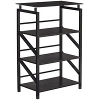 Safco 1007BB SOHO 4-Shelf Black Textured Laminate Bookcase with Glass Top - 23 1/2 inch x 15 3/4 inch x 38 inch