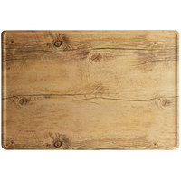 GET SB-1812-OW Madison Avenue / Granville 18 inch x 12 inch Melamine Faux Oak Wood Display Board