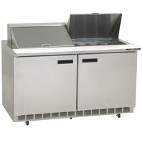 Delfield 4460N-24M 60 inch 2 Door Mega Top Refrigerated Sandwich Prep Table