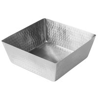 American Metalcraft SSQH117 254 oz. Hammered Stainless Steel Square Bowl