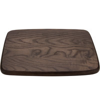 GET WD-4-ASH Taproot 12 inch x 9 inch Walled Ash Rectangular Wood Serving Board with Rounded Edges