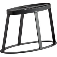 GET MTS-OV6-MG Madison Avenue 6 inch Tall Metal Gray Oval Stand / Pedestal for SB-1460 and SB-1812 Display Boards