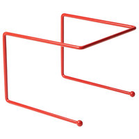 American Metalcraft RSR307 12 inch x 12 inch x 7 inch Red Rubberized Pizza Stand