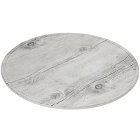 GET SB-1300-WBW Madison Avenue / Granville 13 1/2 inch Round Melamine Faux White Birch Wood Display Board