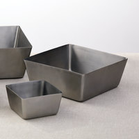 American Metalcraft SSQ94 146 oz. Satin Finish Stainless Steel Square Bowl