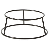 American Metalcraft RSRB4 4 inch Small Black Round Rubberized Pizza Stand
