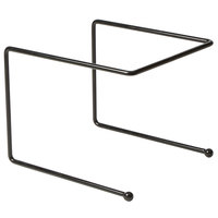 American Metalcraft RSB307 12 inch x 12 inch x 7 inch Black Rubberized Pizza Stand