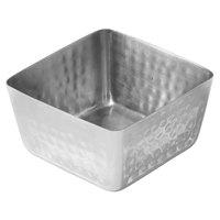 American Metalcraft SSQH53 30 oz. Hammered Stainless Steel Square Bowl