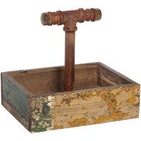GET CAD1-RWD 9 inch x 7 inch x 8 1/4 inch Reclaimed Wood Condiment Caddy / Drink Caddy
