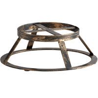 GET MTS-R3-AB Madison Avenue 3 inch Tall Antique Brass Round Display Stand / Pedestal for SB-1300 and SB-1212 Display Boards