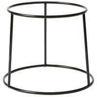 American Metalcraft RSRB 7 3/8 inch Black Round Rubberized Pizza Stand