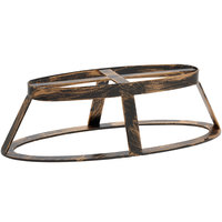 GET MTS-OV3-AB Madison Avenue 3 inch Tall Antique Brass Oval Stand / Pedestal for SB-1460 and SB-1812 Display Boards