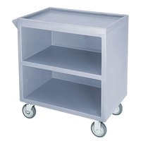 Cambro BC330401 Slate Blue Three Shelf Service Cart with Three Enclosed Sides - 33 1/8 inch x 20 inch x 34 5/8 inch