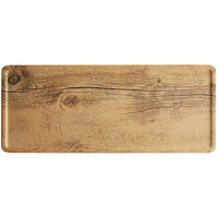GET SB-1460-OW Madison Avenue / Granville 14 1/2 inch x 6 inch Melamine Faux Oak Wood Display Board