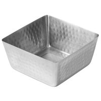 American Metalcraft SSQH73 70 oz. Hammered Stainless Steel Square Bowl