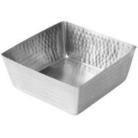 American Metalcraft SSQH94 146 oz. Hammered Stainless Steel Square Bowl