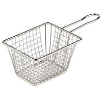 4 inch Rectangular Stainless Steel Mini Fry Basket