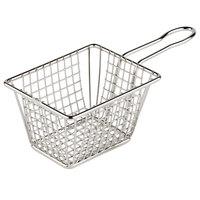 4 inch Rectangular Stainless Steel Mini Fry Basket