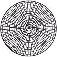 Vollrath 1420-06 Tray Mate 12 1/2 inch Black Round Anti-Skid Mat