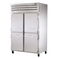 True STA2DT-4HS Specification Series Two Section Half Door Dual Temp Reach In Combination Refrigerator / Freezer