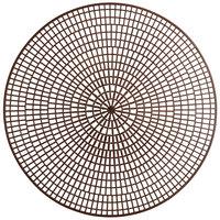 Vollrath 1620-01 Tray Mate 14 1/2 inch Chocolate Round Anti-Skid Mat