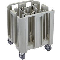 Cambro ADCSC12PKG480 S-Series Speckled Gray Compact Adjustable Dish Dolly / Caddy - 13 / 16 Column