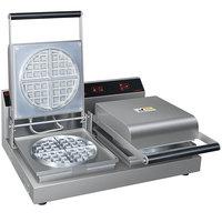 Hatco RWM-2B 7 inch Double Belgian Waffle Maker - 120V, 1800W