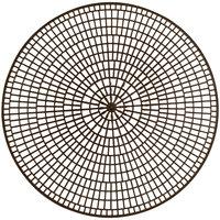 Vollrath 1420-01 Tray Mate 12 1/2 inch Chocolate Round Anti-Skid Mat