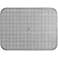Vollrath 1612-06 Tray Mate 16 inch x 12 1/2 inch Black Rectangular Anti-Skid Mat