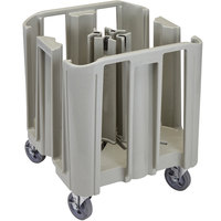 Cambro ADCSC480 S-Series Speckled Gray Compact Adjustable Dish Dolly / Caddy - 4 / 5 Column