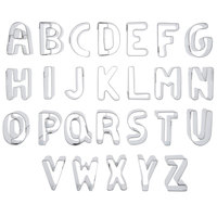 Ateco 6950 26-Piece 3 inch Stainless Steel Alphabet Cutter Set