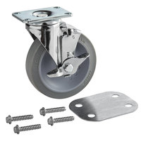 Cambro H19003 5 inch Swivel Caster with Brake Replacement for S-Series Compact Adjustable Dish Caddy