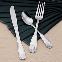 World Tableware Brandware 127 030 Coral 7 5/8 inch 18/0 Stainless Steel Heavy Weight Dinner Fork - 36/Case
