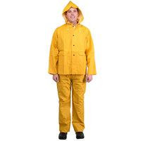 Yellow 2 Piece Rainsuit - Large