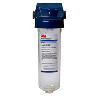 3M Water Filtration Products 5557506 Single Drop-In Prefilter Housing with Shut-off Valve Handle and Transparent Sump